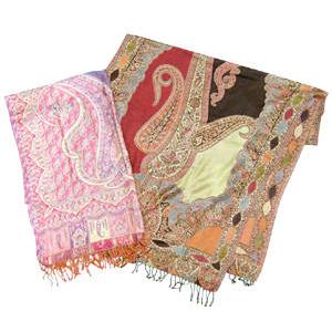 透かし入りジャガード織ショール ◆大特価◆