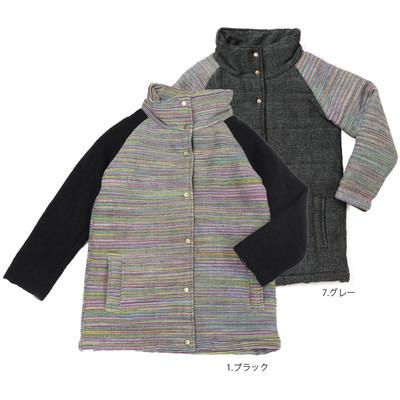 【PIPPAL】手織りボーダー コート ★特価★
