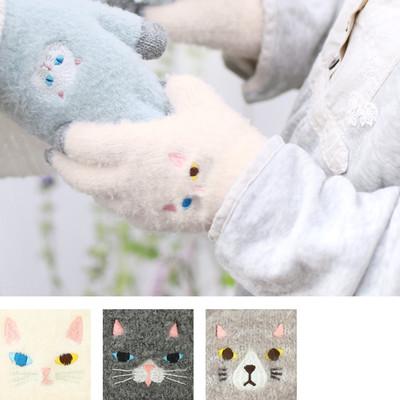スマホ手袋 キッズサイズ ネコ