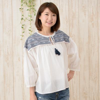 【Shanti】プルオーバー ミックスライン刺繍