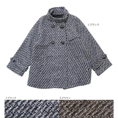 【LADKI】タイニーチェック ショートコート ★特価★
