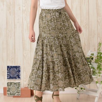 【Shanti】スカート ペイズリータイル