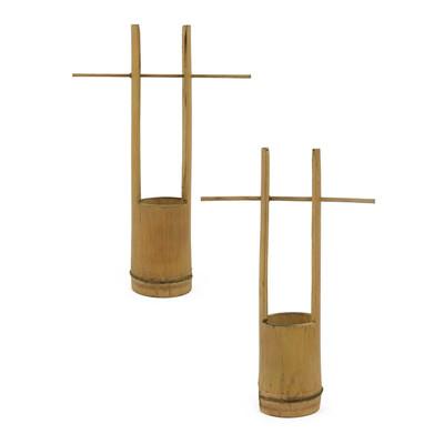 持ち手付 竹プランター