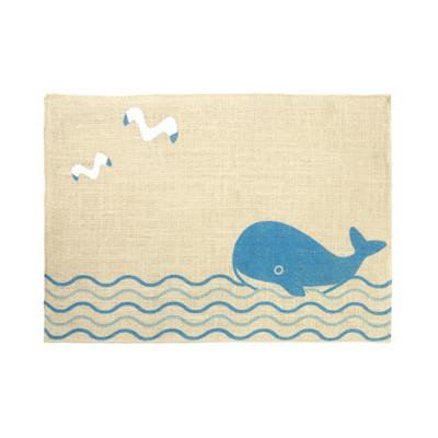 ジュートランチマット クジラ
