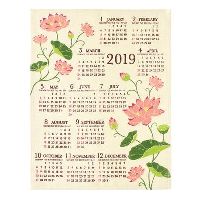 ジュートカレンダー ガーデンロータス