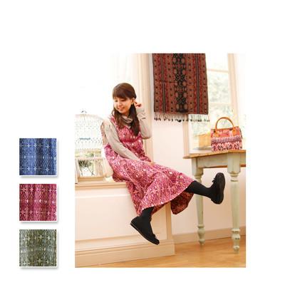 【Shanti】カスリ ドレス ★特価★