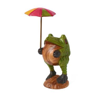 傘さしカエル(L) イエローグリーン