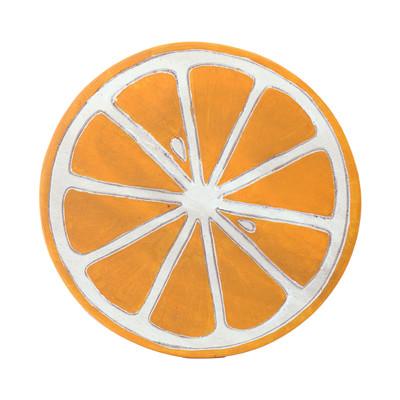 ラウンドスツール オレンジ
