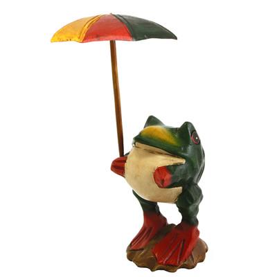 傘さしカエル(S)グリーン
