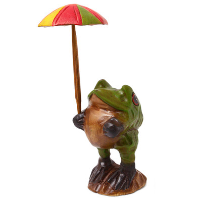 傘さしカエル(S)イエローグリーン