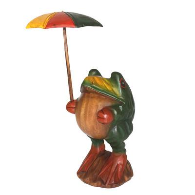 傘さしカエル(L) グリーン