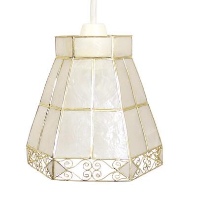 カピスハンギング 六角ランプ(シーリングライト40W)