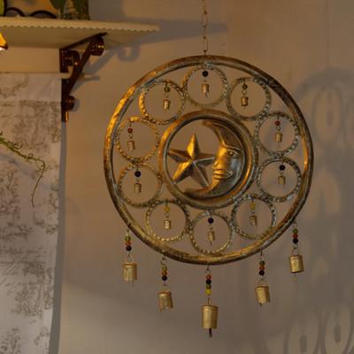 レリーフベル 月と星