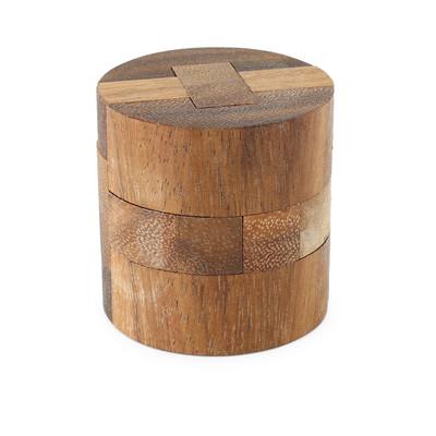 ウッドパズル 円柱