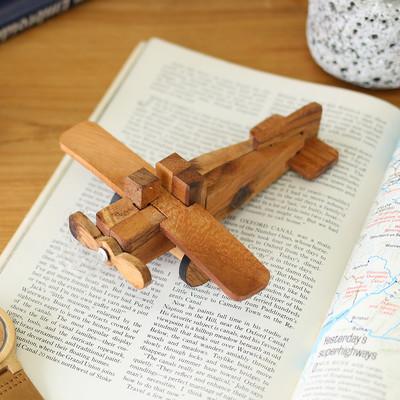 ウッドパズル 飛行機