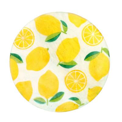 ラウンドカピスコースター レモン