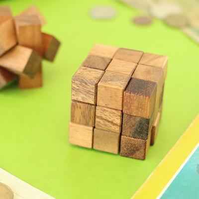 ウッドパズル キューブ