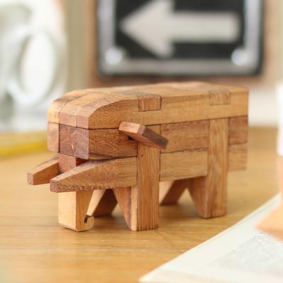ウッドパズル ゾウ