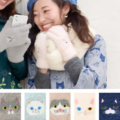 スマホ手袋 ネコ