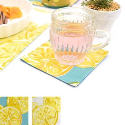 コースター レモン