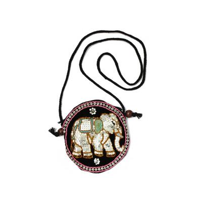 象スパンコールポシェット 丸型